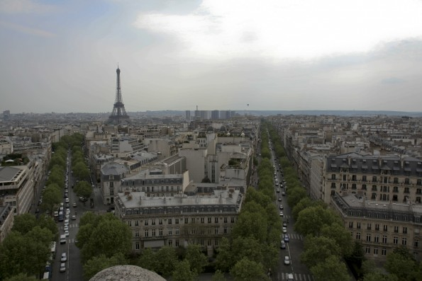 A view from Arc de Triomphe