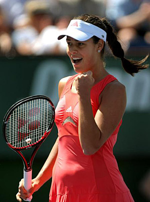 Ana Ivanović, celebrating good point in the final