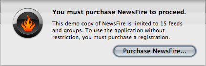Newsfire limits you just 15 subscriptions. Too little.
