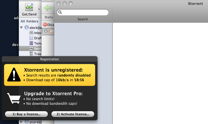 xTorrent is driving me crazy with this black hole on the monitor screen.