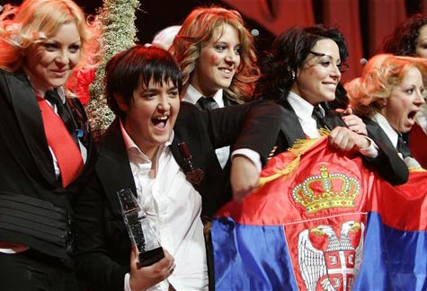 Marija Šerifović won for Serbia at ESC '07
