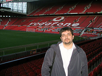 Me at the Old Trafford stadium